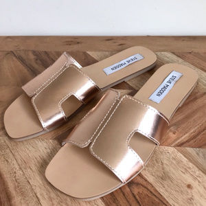 Steve Madden | Sayler Leather Slide Sandals